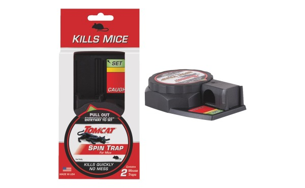 2-Pk. Tomcat Spin Trap Mechanical Mouse Traps